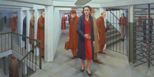 """The Subway"" by George Tooker"