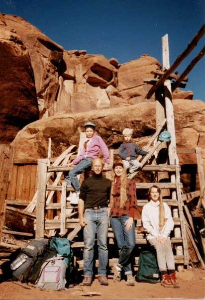 Family picture in  Dominguez Canyon  circa 1989