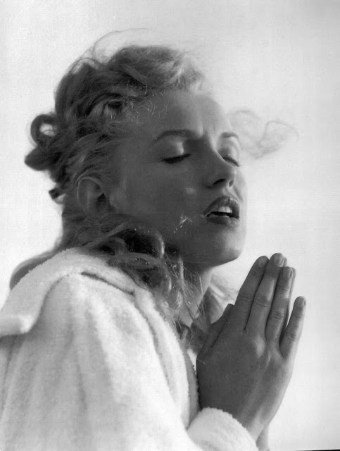 Marilyn Monroe  in a moment of divine revelation