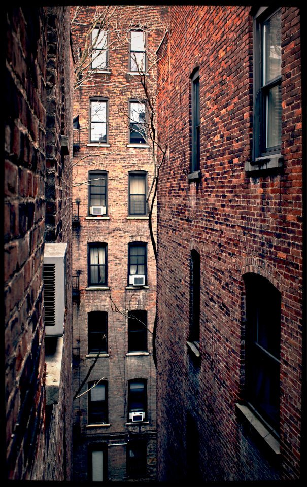 The view from my first bedroom window in New York.