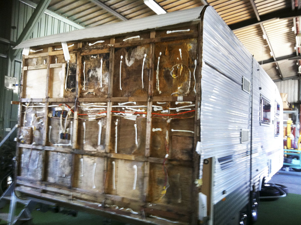 The problem with aluminium caravans...