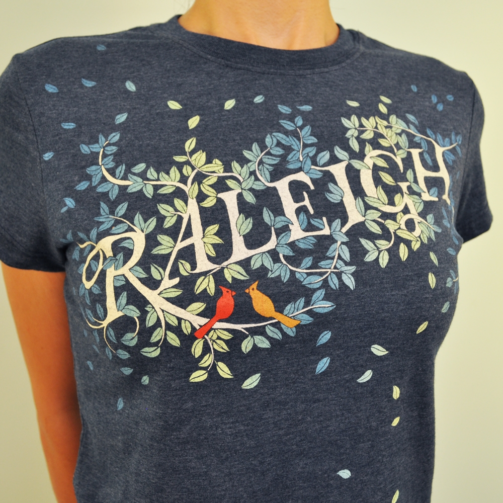 Raleigh Tree & Cardinal T Shirt