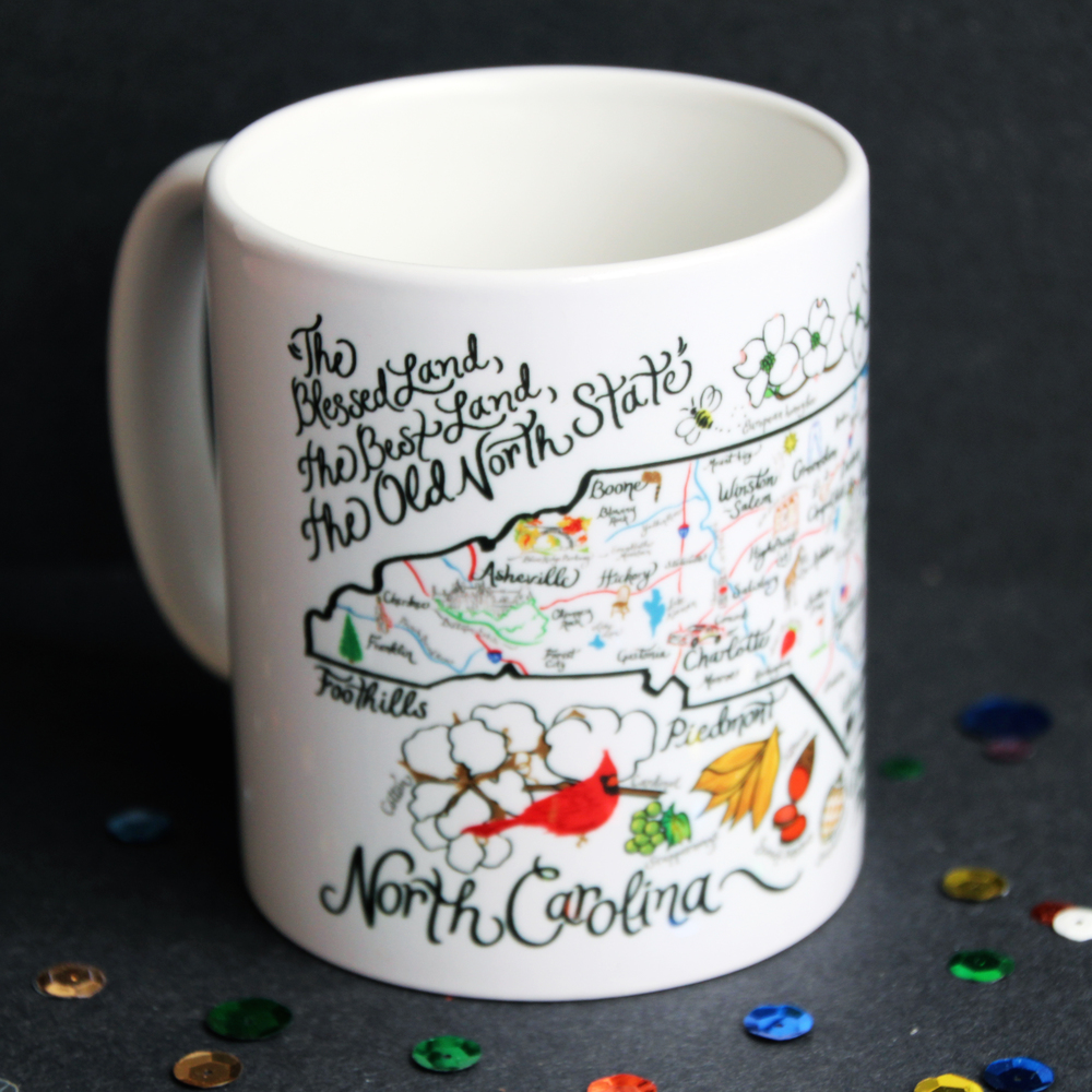 North Carolina State Map Mug