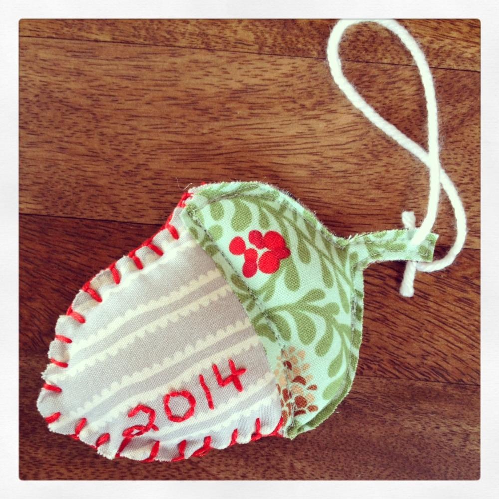 Felt Acorn Ornament