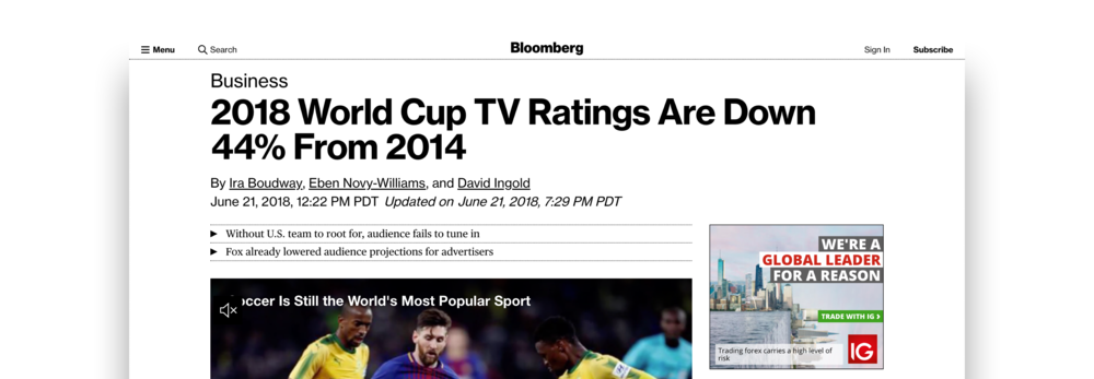 Source: https://www.bloomberg.com/news/articles/2018-06-21/fox-telemundo-2018-world-cup-ratings-are-down-44-from-2014
