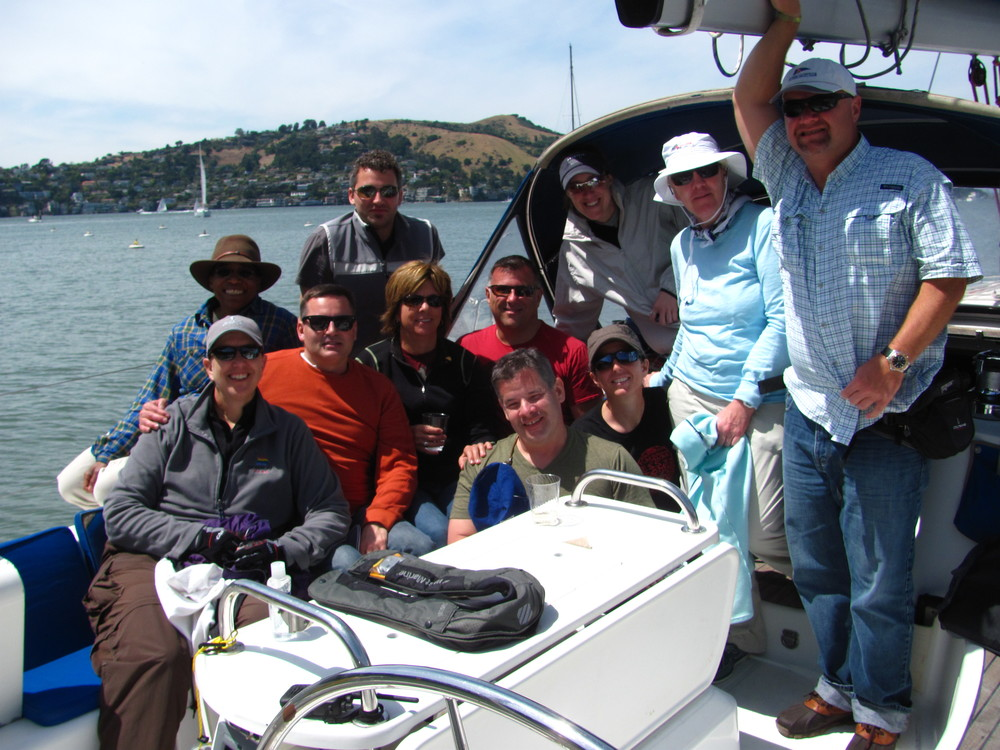 "An SFST day on ""Bliss"", lunching at Ayla Cove at Angel Island."