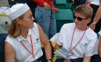 SF Sailing Team Coaches Jan Crosbie-Taylor and Sallie Lang.