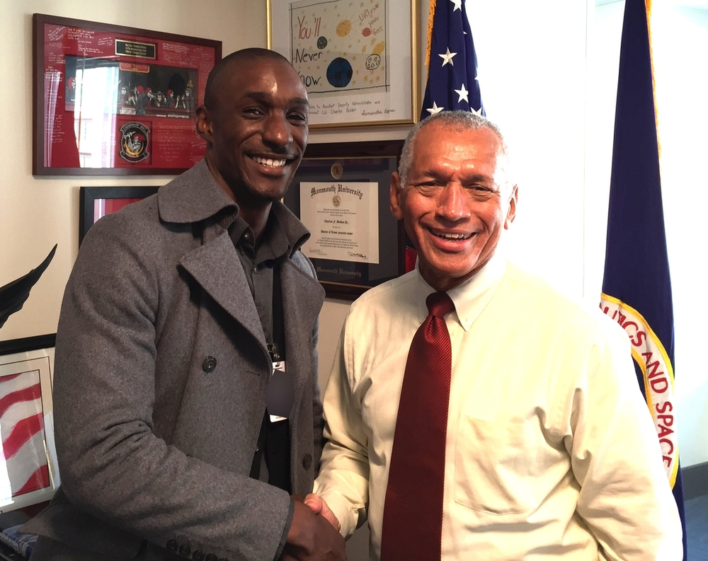 Arvel Chappell III with Charles Bolden