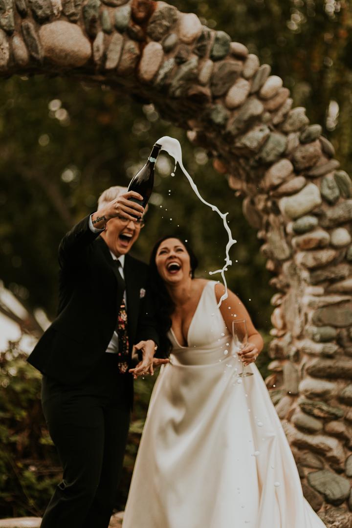 Kate and Amanda Camano Island Wedding The Finery Van Gachnang