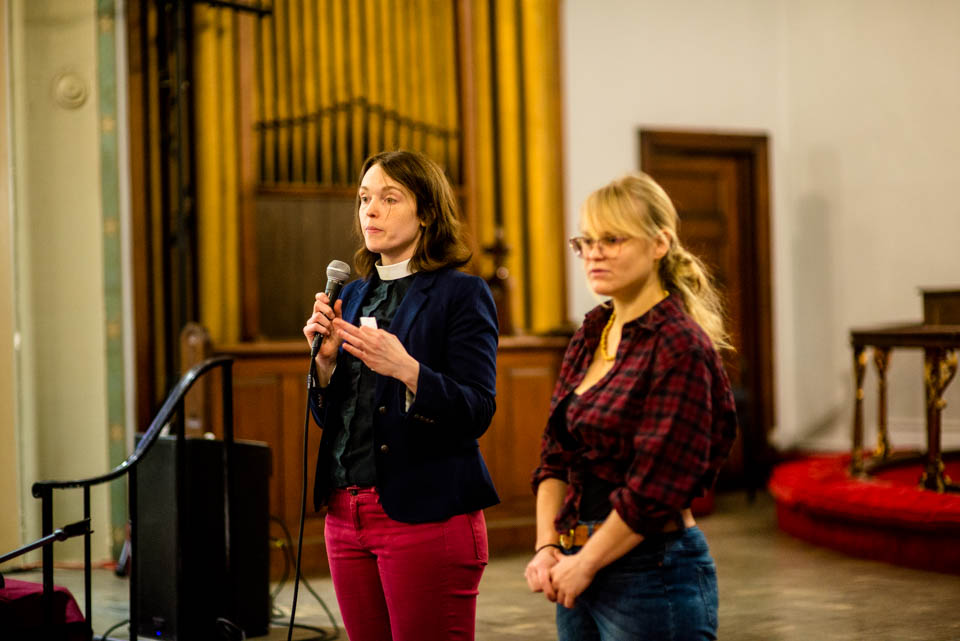 Pastor Amy Kienzle and our program director, Concetta Abbate (right).