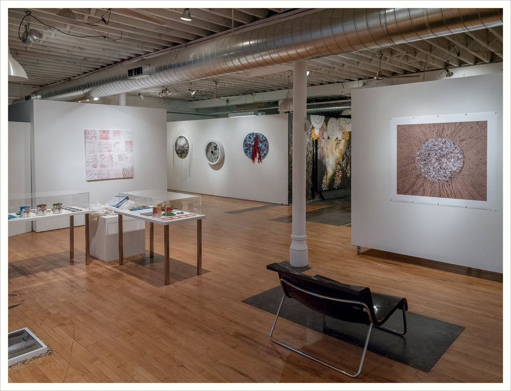 Installation View at PlatteForum Gallery, Temple Arts Building, Denver, CO, 2017.