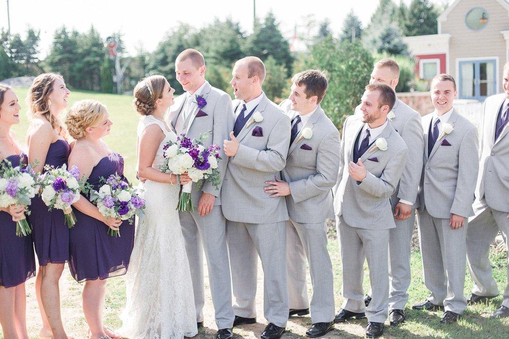 Matt Haleys Purple Grey Wedding At Blue Mountain Ski Resort 0034