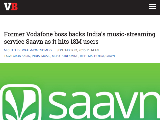 Saavn - VentureBeat