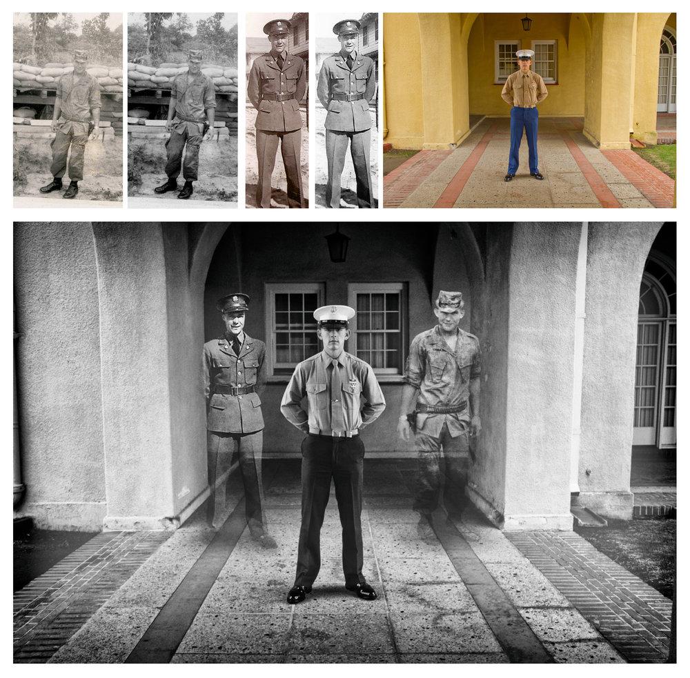 Multi Generational Military Portrait