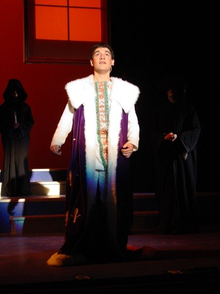 "Javier playing ""Pippin"" at Wichita State University"