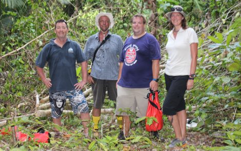 Gillian explores the island of Fam with Simon, Julian & new volunteer Will