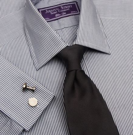 silver grey slim fit mens shirt - Jermyn Street.JPG