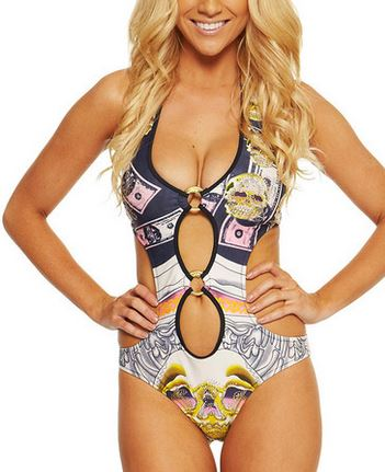One Honey Boutique print monokini.JPG