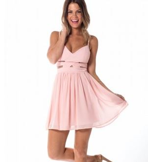 Showpo night to remmeber peach dress.JPG