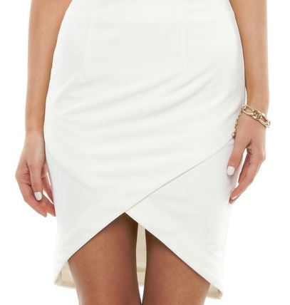 Billy Wrap mini skirt white - The Iconic.JPG