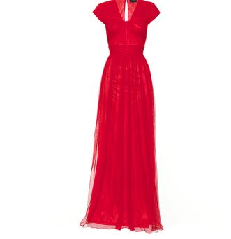 ruched cocktail gown - Howard Showers.JPG
