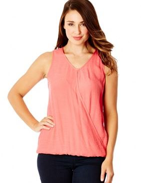 katies coral wrap top.JPG