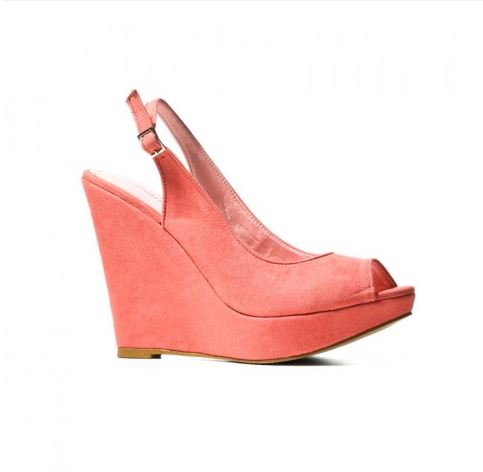 Catwalk88 peach strappy wedge.JPG
