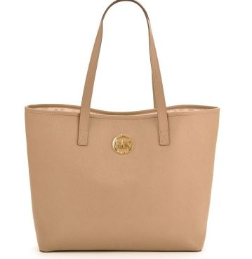 Michael Kors  tan leather tote - Everme.JPG