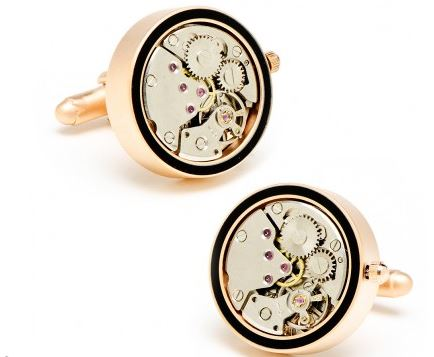 matte rose gold watch movement cufflinks.JPG