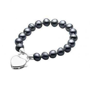 black pearl bracelet sterling silver heart.JPG