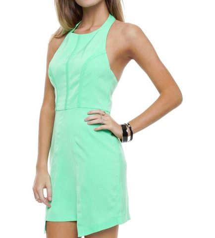 Minty meets munt dress - The Iconic.JPG