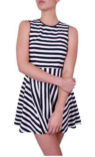 Miss Moncur sequin stripe dress.JPG