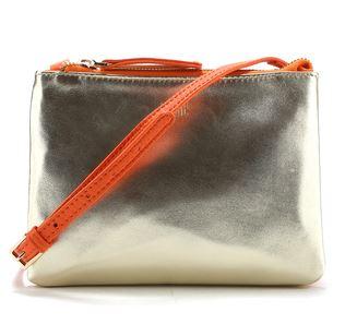 Coco Kitten - leather gold orange shoulder bag.JPG