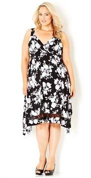mono rose peak hem dress.JPG