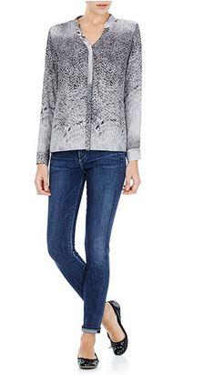 rich grey snakeskin blouse from Sambag.JPG