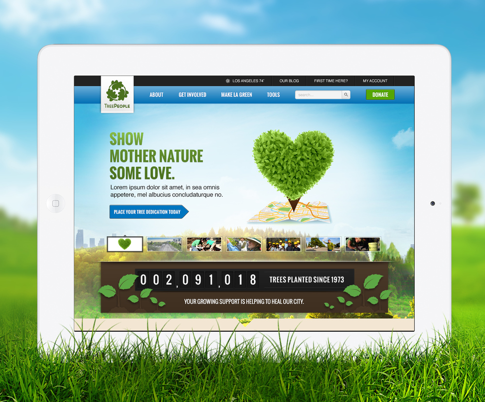 TreePeople iPad Mockup