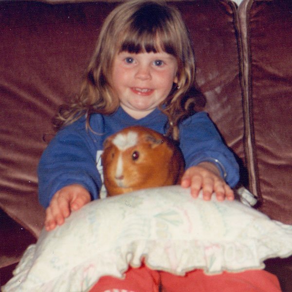 I think I'm 3 or 4 here, with my guinea pig, Bambi.