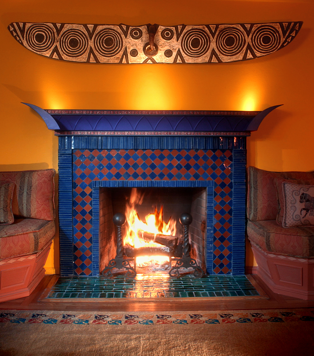 Burner paul bullock for Kiva style fireplace