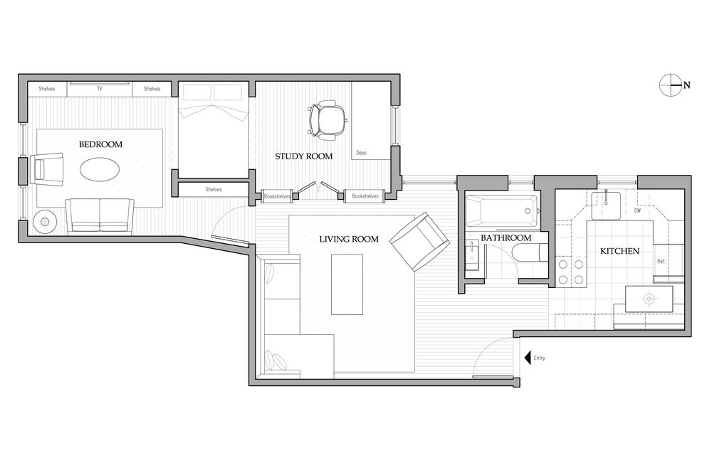 TWO BEDROOM RETIREMENT RESIDENCE- INTERIOR ARCHITECTURE