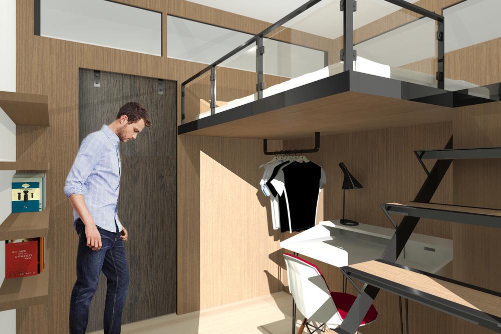 MODULAR LOFT BEDROOM LIVING