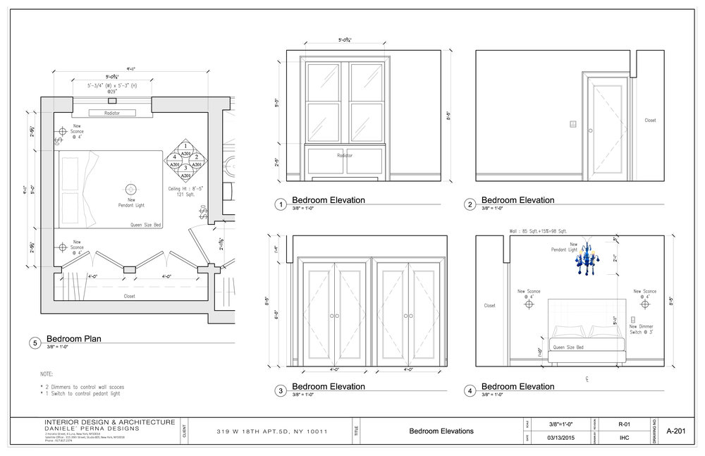 A 201 Bedroom Elevations+Colblat Ceiling Fixture
