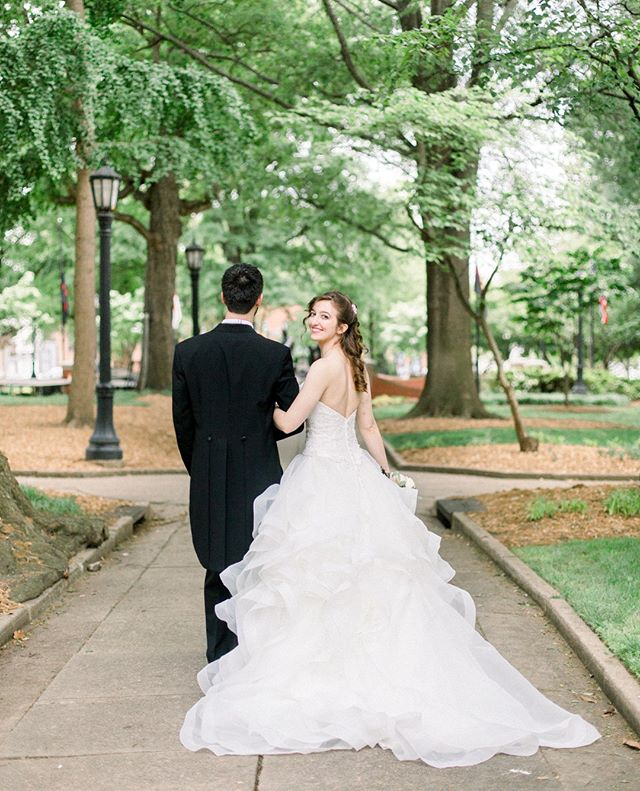 I've only had the joy of spending time with this sweet couple twice - once earlier this year - and then once again on their wedding day!  But Natalie and Stephen are both that special kind of person you feel you've known forever, and it was such fun capturing these portraits of them in Nash Square in downtown Raleigh.  The flounciest dress ever for her, the sharpest tux for him - and of course, big smiles all around. . . . @cormuseum #cormuseum #downtownraleigh #downtownwedding #nashsquareraleigh #minavonfphotography #northcarolinawedding #northcarolinaweddingphotographer #weddingphotography #raleighwedding #raleighweddingphotographer