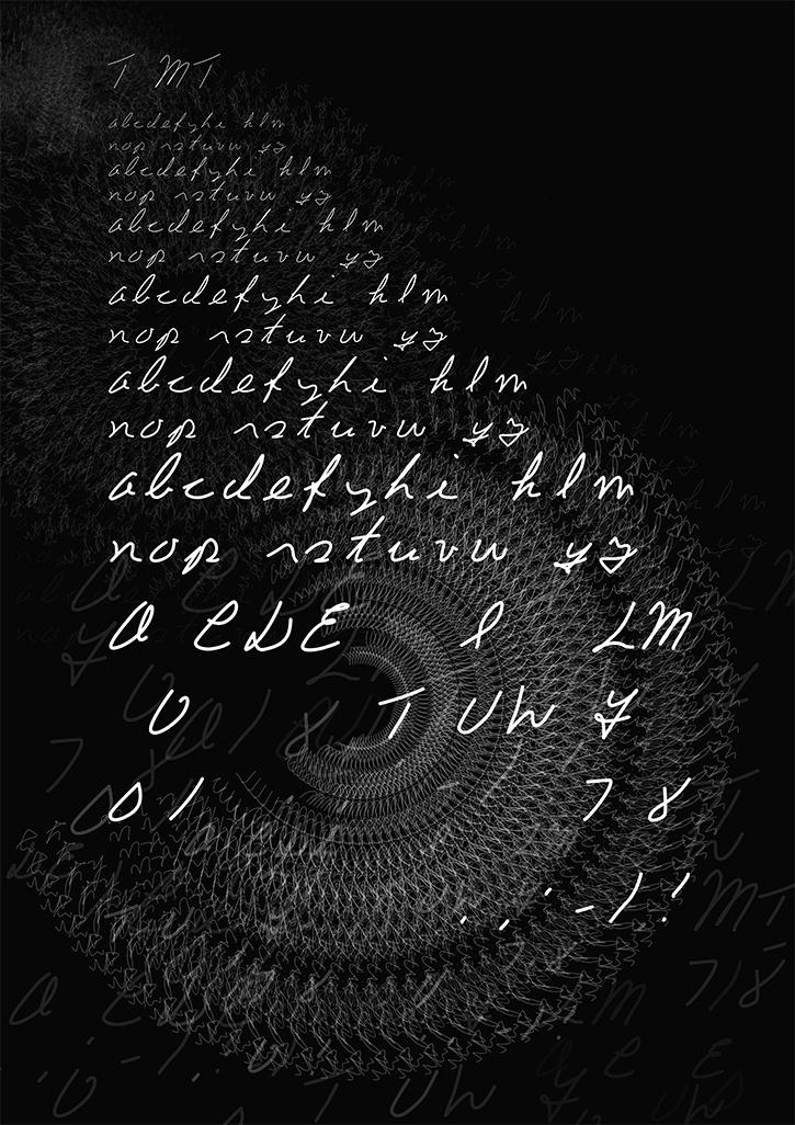 T MT Font Poster