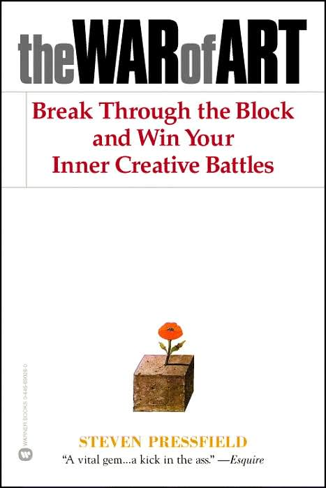 The War of Art - Steven Pressfield - There's a strategy to beating yourself at your own game. A book universally suggested by writers for writers.