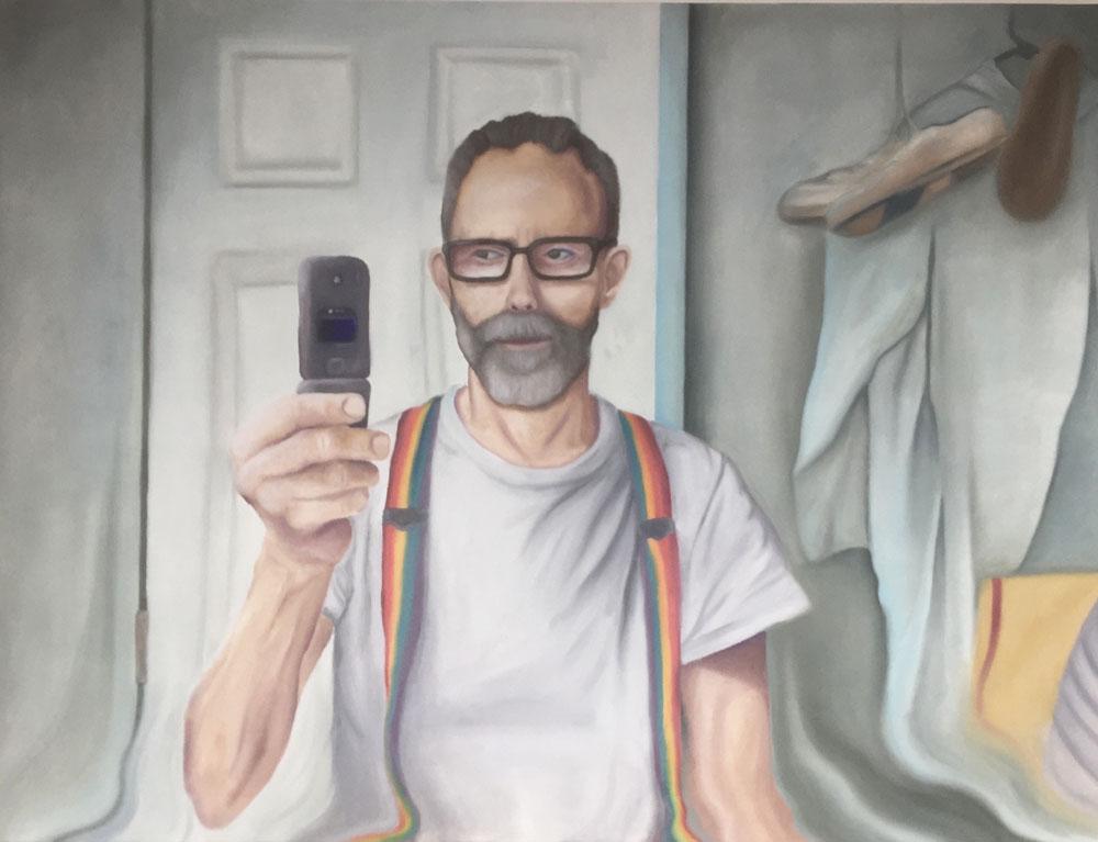 A painting inside a Eureka art gallery.