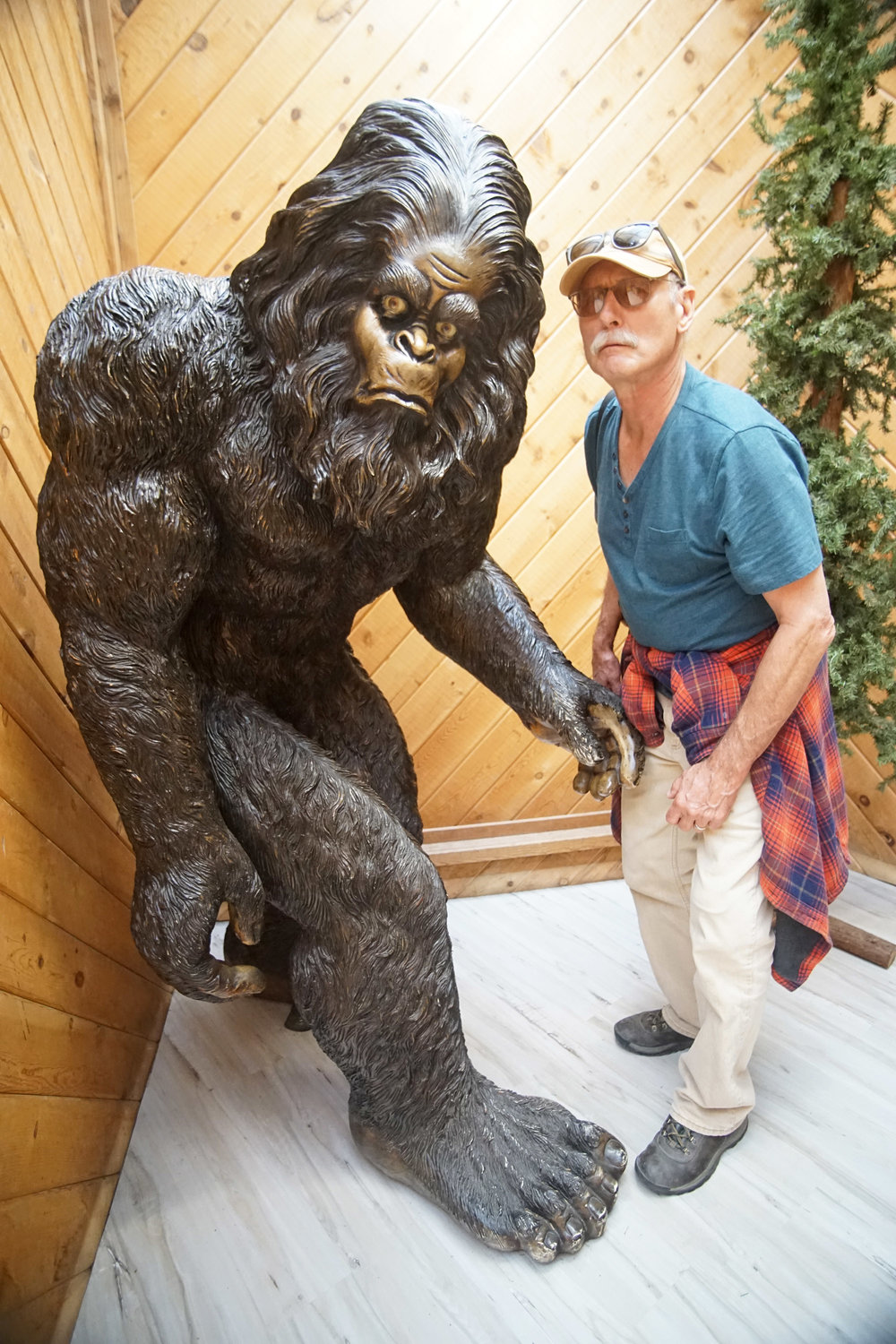 Apparently Bigfoot lore runs rampant round these parts. Here's Dad doing his best impression of sasquatch.