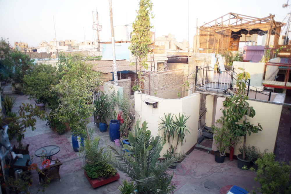 My rooftop hostel.