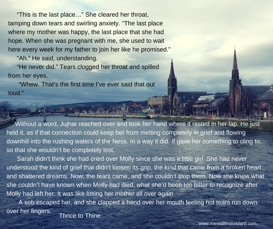"""""""This is the last place…"""" She cleared her throat, tamping down tears and swirling anxiety. """"The last place where my mother was happy, the last place that she had hope. When she was pregnant with me, she used to wait .jpg"""