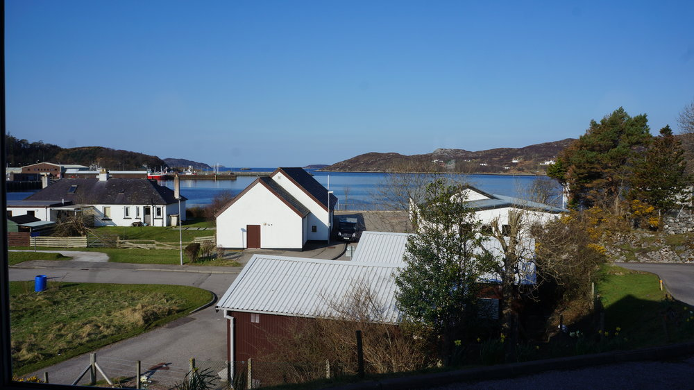 The view from TIgh na Sith Guest House, Lochinver.
