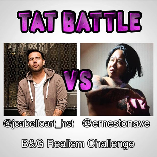 Want a free tattoo? Become my canvas for this #tat_battle against my formidable foe @jcabelloart_hst , What should we tattoo? What do you think our strengths are and what  do you want to see us do?